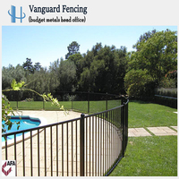 Hot Sales Powder Coated Steel Swimming Pool Fence