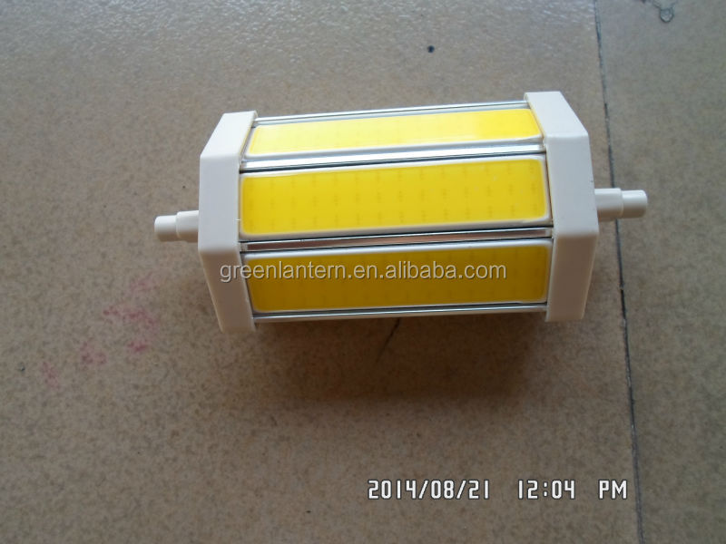 Aluminum housing 10w COB R7S LED <strong>bulb</strong> Warm color or white color