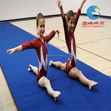 wholesale blue gymnastics crash rolled up mat used for cheerleading
