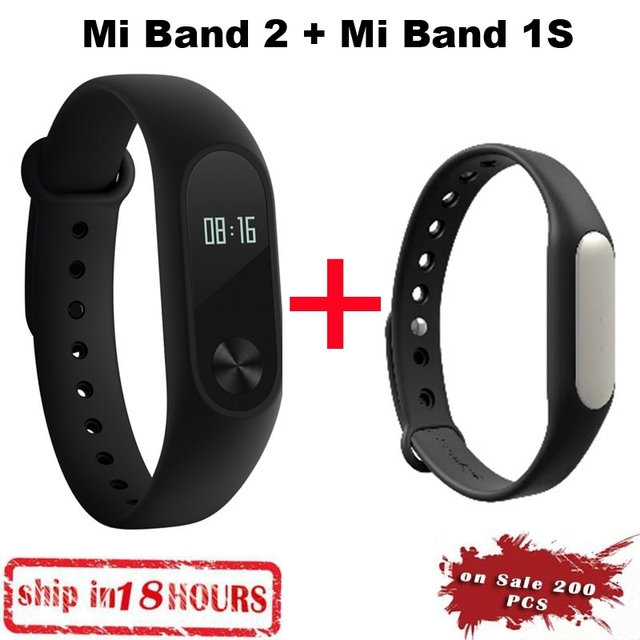 IN STOCK!! New 100% Original Xiaomi Mi Band 2 Miband Wristband Bracelet with Smart Heart Rate Pulse Fitness Touchpad OLED Screen