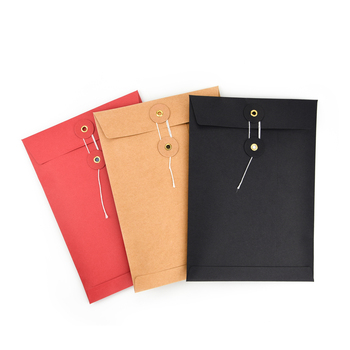 Envelope string closure kraft paper gusset envelope