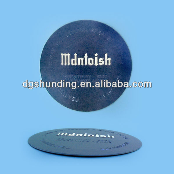 Preminum quality printed metal label with company logo