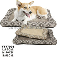 Fashion Pet Accessories Print Bed Dog Cushion