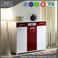 Hot sale Ninety Degree cheap double color wooden shoe cabinet in USA