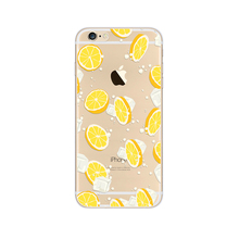 Custom pattern ip8 ip7 ip6 plus Phone Case Transparent TPU Color Drawing Orange Cell phone back cover
