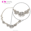 Wholesale Fashion Design Necklace Women American Diamond Necklace Sets