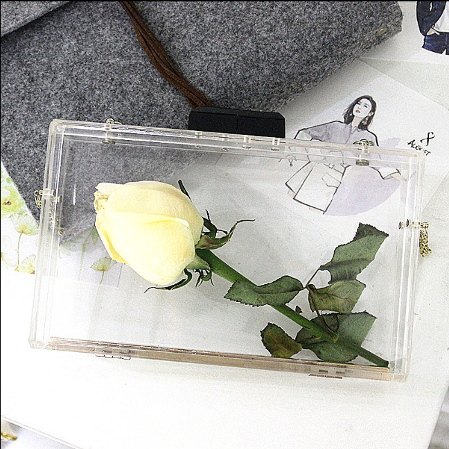 wholesale handbag china women wallets Full Transparent acrylic personalized simple Handbag