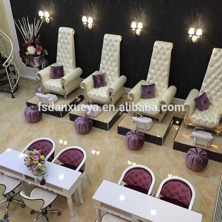 Danxueya 2016 luxury massage spa pedicure chair for nail for Salon manicure chairs