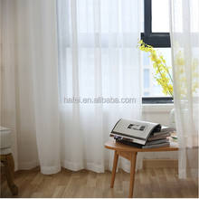 High quality simple sheer voile plain curtain design decorative windows