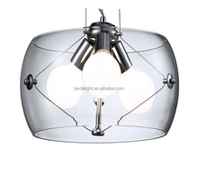 Italian classic design suspension clear class pendant lights lighting fixture China supplier