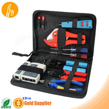 Comprehensive tool box with Crimping Tool Cutter Stripper screwdrivers tester
