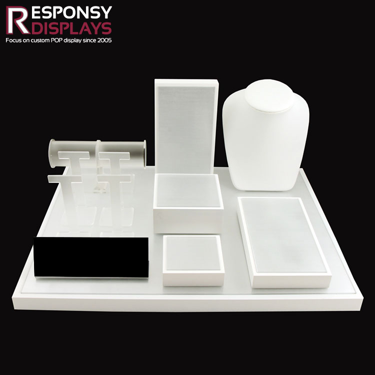 professional customized make up counter Acrylic display case in Cosmetic Store