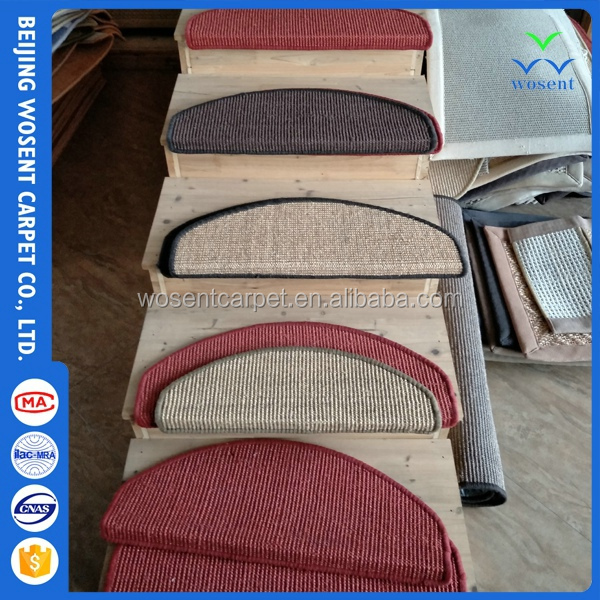 Fiber color dye carpet for home amenity sisal roll straw mat