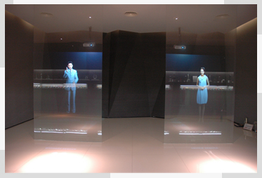 hologram Rear film/ window glass Holographic Rear Projection Film/Transparent Projector Film