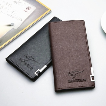 Supply Amazon Wholesale Fashion Slim PU Leather billfold Long Wallet Men Purse Credit card holder Wallet for men