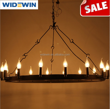 The Nordic industrial creative, wrought iron restoring ancient ways round the candle monolayer droplight