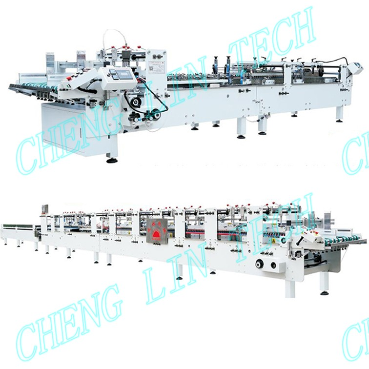 Clear wiper boxes folding gluing and hot sealing machine supplier shenzhen chenglin