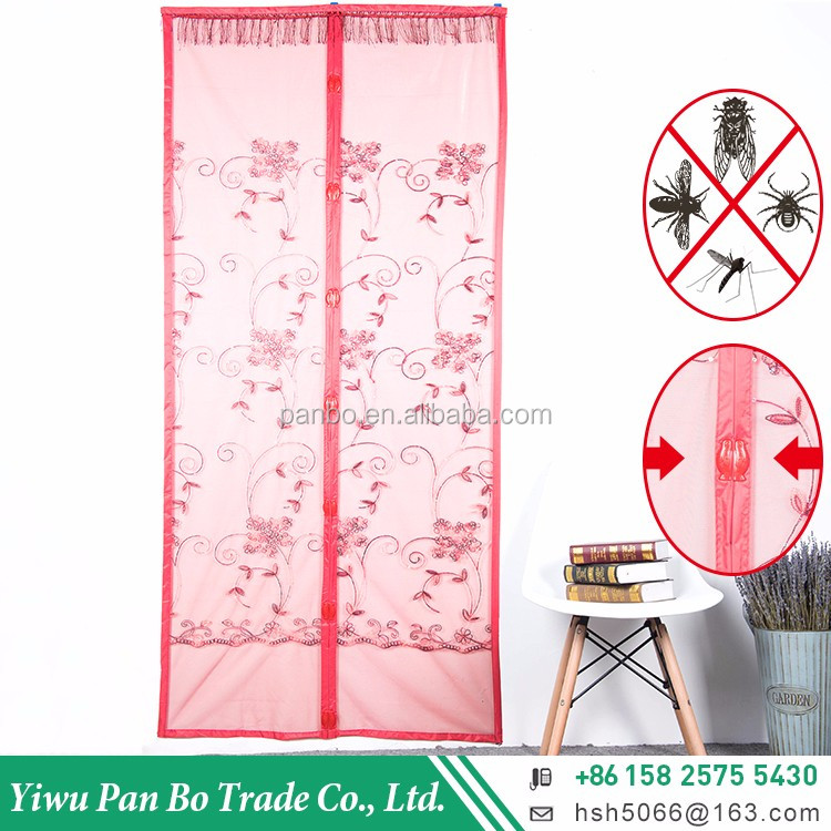 PanBo wholesale home use magnetic door soft mesh screen curtains