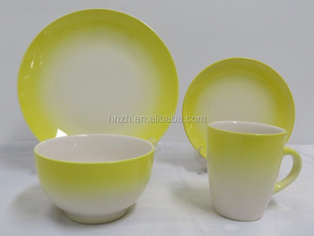 Newest 16pcs Spary Painting Ceramic Dinner Set