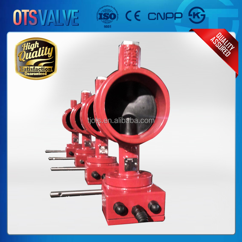 grooved type fire fighting butterfly valve