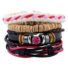 2017 New Design Cheap Price Fashion High Quality Pure Handmade Braided Leather Hemp Women's Bracelets