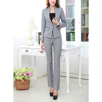 ladies office uniform design bespoke work uniform ladies office womens jacket and pants suit with top quality for wholesale