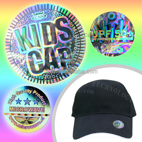 Alibaba reflective 3d custom hat hologram sticker with great quality and price