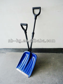 Ergonomic Double Handle Snow Shovel with Telescopic Handle
