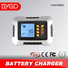 Auto charging 2/4/8/12A 7 step 12v car battery charger with repair function