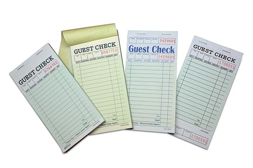 Hotel Restaurant Carbonless Guest Book Two Part Menu Pad Waiter Order Pad