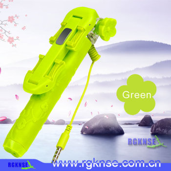 2015 rgnse/icanany factory hot supply Rk-mini 5 wired cable take pole cheap wholesale selfie stick