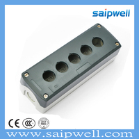 SAIP/SAIPWELL 198*68*54 Five Ways Control Box Electrical Plastic Waterproof IP65 ABS Enclosure