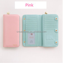 2017 new arrivals brand lady wallet , colorful and fashion multifunction pu leather women wallet with 72 card slots .