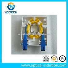 Good quality FTTH fiber optic patch panel, ABS plastic fiber optic face plate,network face plate