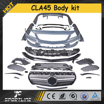 Tuning CLA45 Style PP Material Body kits for Mercedes CLA-Class W117 13 up