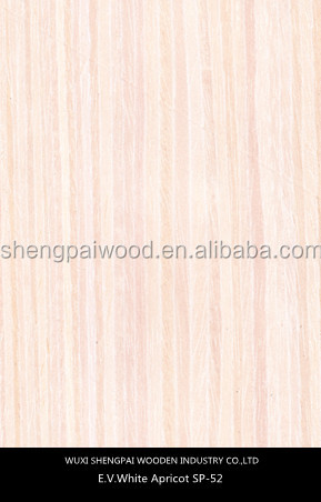 artificial apricot timber wood laminated veneer sheets for home decoration