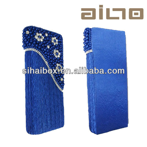 2014 hot sale blue silk elegant fashion lady handbag
