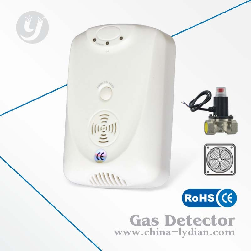 Usage Combustible Lpg, Lng Gas Detector LYD-710GVF Work With Valve And Fan