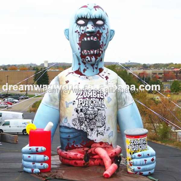 2018 Hot sale halloween inflatable, inflatable zombie for halloween decoration