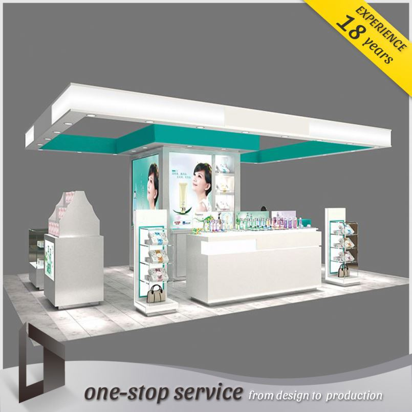 acrylic makeup cosmetic counter makeup/cosmetic display stand/shelves/cabinet case showcase for shop