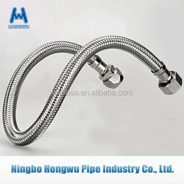 Welded stainless steel corrugated plumbing metalic hose with copper fitting