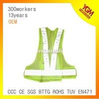 safety reflective pvc belt with LED light