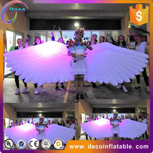 Commercial inflatable led butterfly, stage decor led light butterfly wings ,show activity butterfly costume
