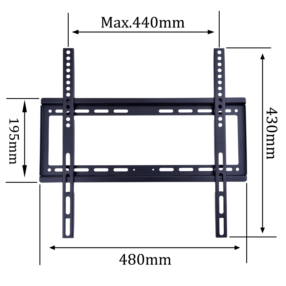 Metal Material and Single-side Bracket Structure fixed tv wall shelf