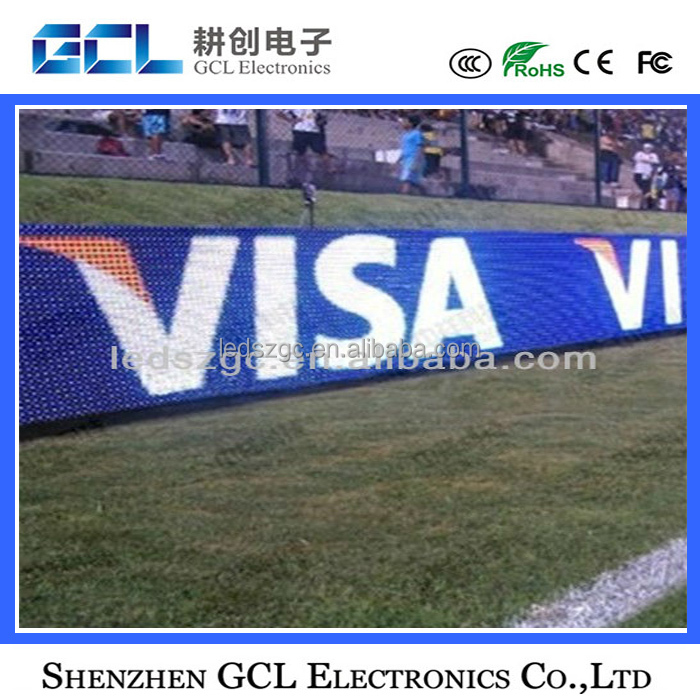 Shenzhen factory programmable led display screen for stadium perimeter P10