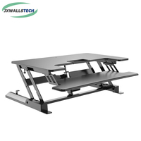 Full Motion Dual Monitor Electric Height Adjustable Computer Riser Desk