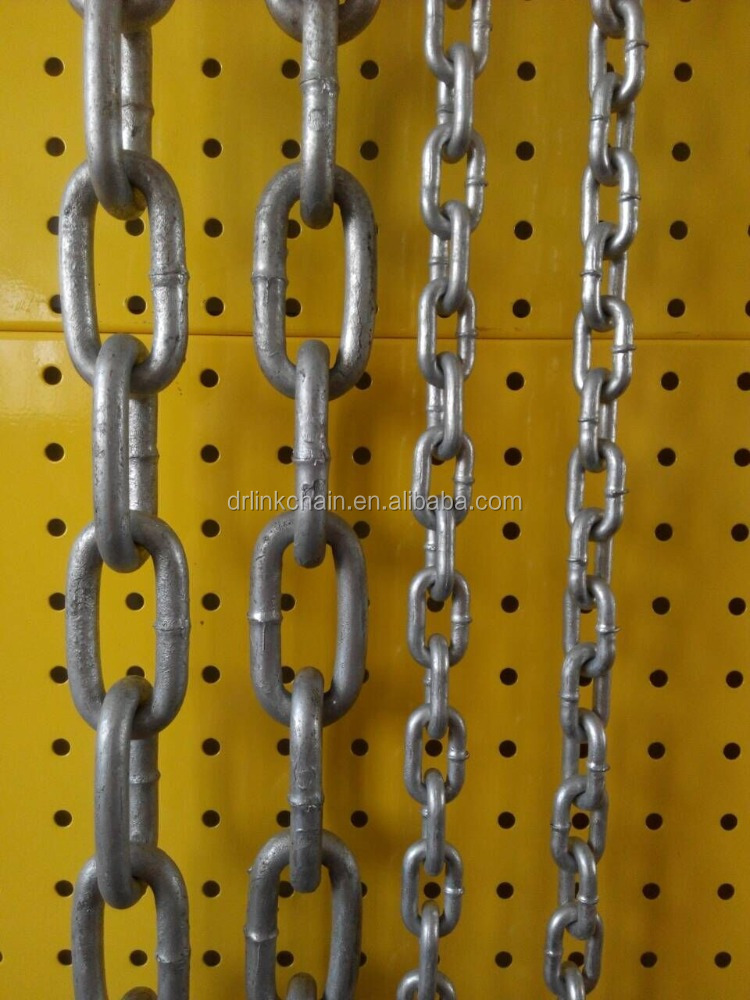 Factory supply hot dip galvanizing <strong>Q195</strong> iron welded chain