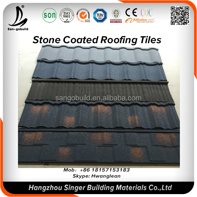 Quality Excellent Appearance Spanish clay ceramic stone coated roof tiles prices color roof Philippines