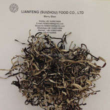 Strip of Cultivated Dried Black Fungus Back White Fungus with 3MM Thickness