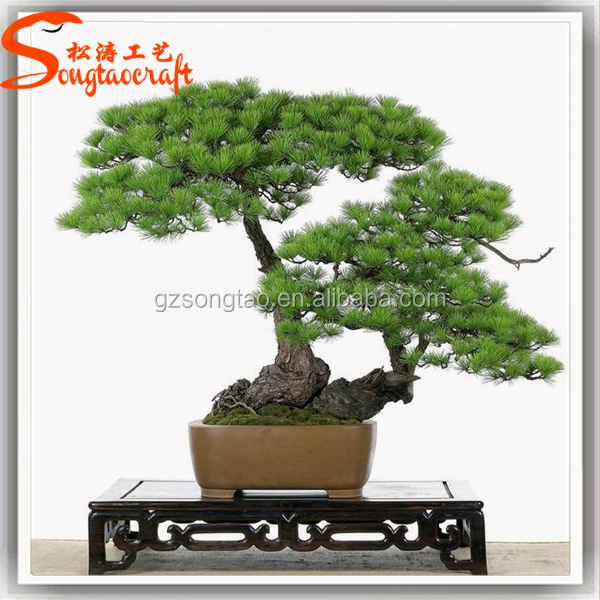 Songtao wholsale artificial pine tree decor indoor plastic for Artificial trees for home decoration